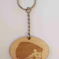 Hedgehog Keyring - Birch Plywood