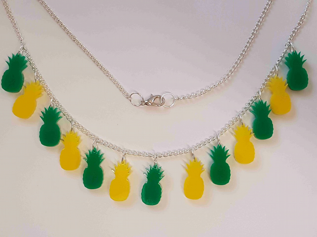 Multiple Pineapple Necklace - Acrylic