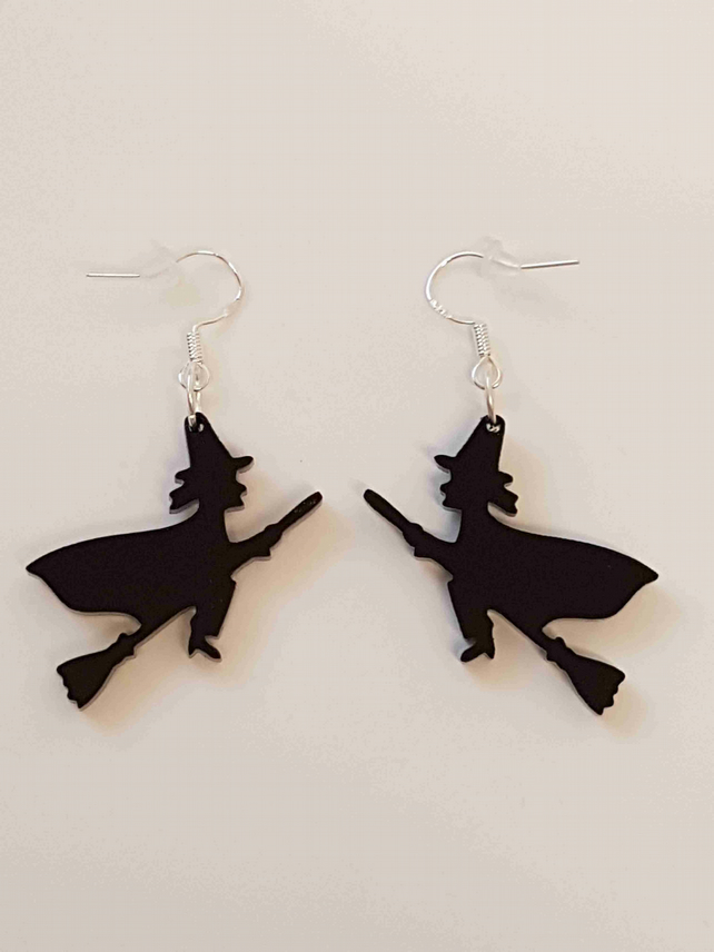 Halloween Witch Earrings - Acrylic