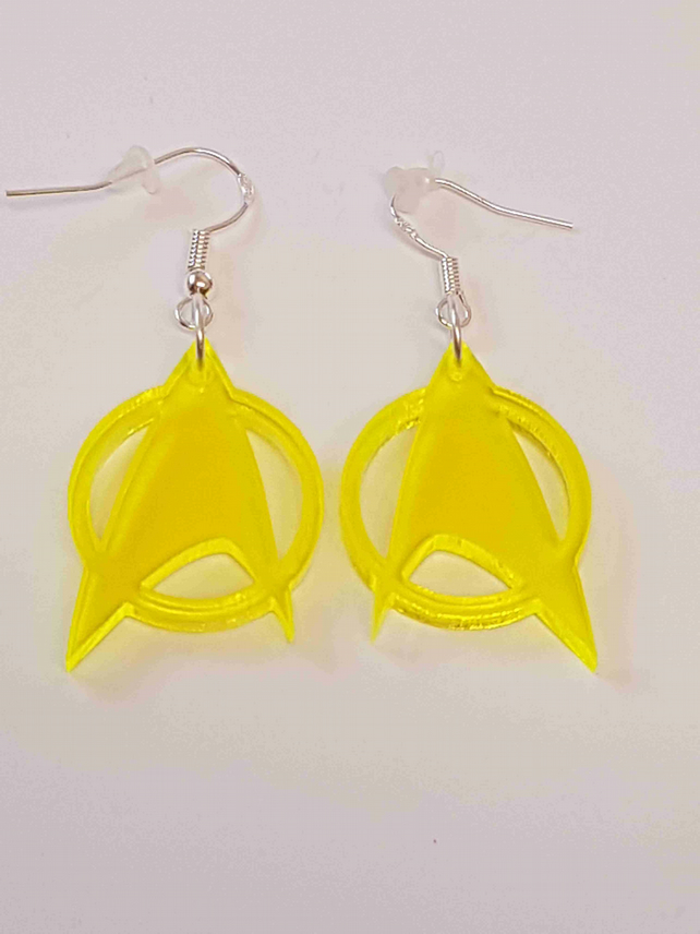 Star Trek Symbol Earrings - Acrylic