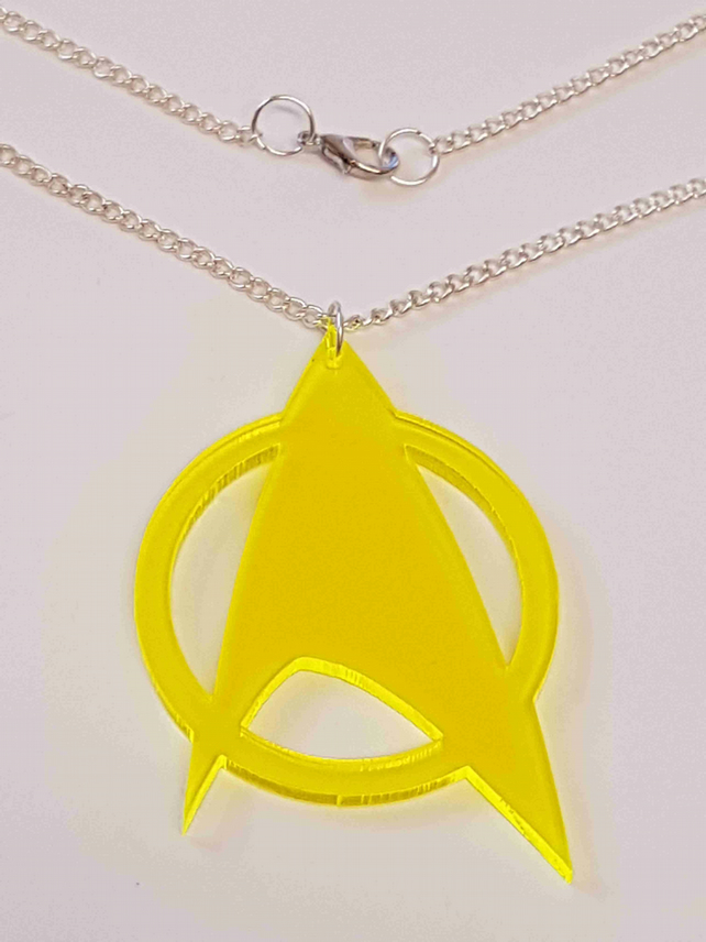 Star Trek Symbol Necklace - Acrylic