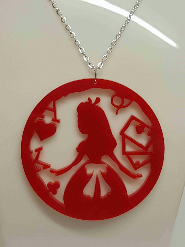 Alice Circle Fairytale Necklace - Acrylic