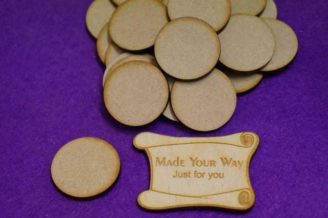 MDF Circle Round 3cm - 50 x Laser cut wooden shape