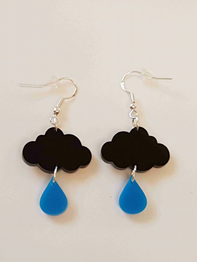 Raincloud Earrings - Acrylic