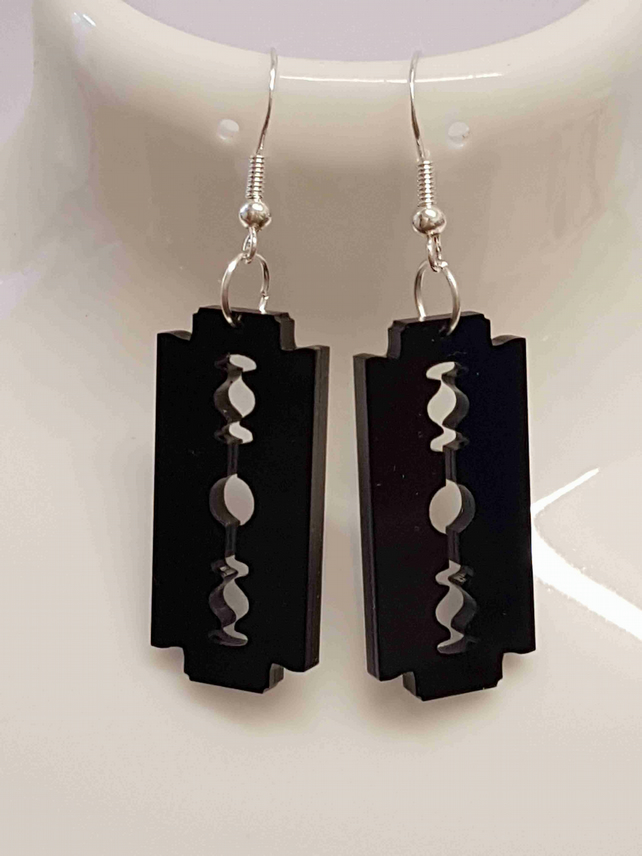 Razor Blade Earrings - Acrylic