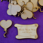 MDF Heart Balloon on String 4cm - 25 x Laser cut wooden shape