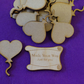 MDF Heart Balloon on String 5cm - 15 x Laser cut wooden shape
