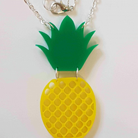 Pineapple Fruity Necklace - Acrylic