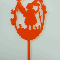 Acrylic Cake Topper - Bunny Rabbit in Frame - Laser cut