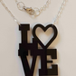 Love Heart Necklace - Acrylic