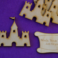 MDF Sand Castle 5cm - 5 x Laser cut wooden shape
