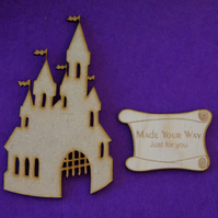 MDF Fairytale Castle A 10cm - Laser cut wooden shape