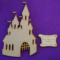 MDF Fairytale Castle A 15cm - Laser cut wooden shape