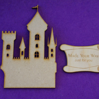 MDF Fairytale Castle D 10cm - Laser cut wooden shape