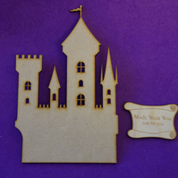 MDF Fairytale Castle D 15cm - Laser cut wooden shape