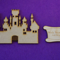 MDF Fairytale Castle G 10cm - Laser cut wooden shape