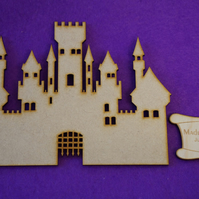 MDF Fairytale Castle G 15cm - Laser cut wooden shape