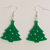 Christmas Tree with Star Earrings - Acrylic