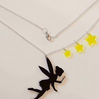 A Little Bit Of Pixie Dust, Fairy and Star Necklace - Acrylic