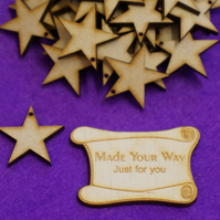 MDF Star one hole 3cm - 40 x Laser cut wooden shape