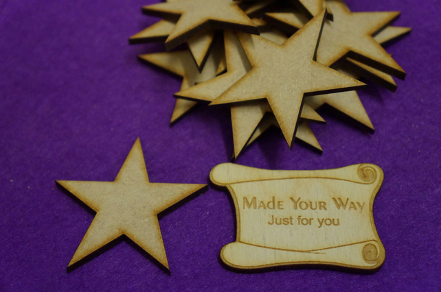 MDF Star 5cm - 15 x Laser cut wooden shape