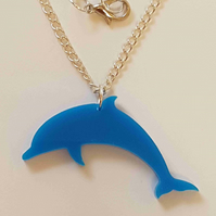 Dolphin Necklace - Acrylic