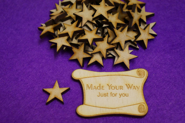 MDF Star 2cm - 100 x Laser cut wooden shape