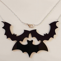 Bat Statement Necklace - Acrylic