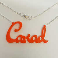 Cariad Welsh Necklace - Acrylic