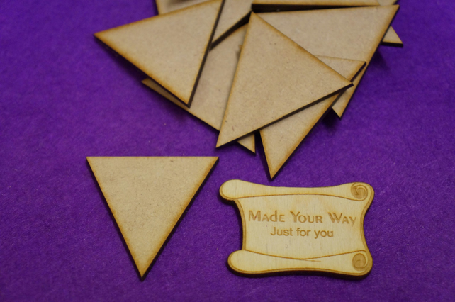 MDF Triangle 5cm - 15 x Laser cut wooden shape