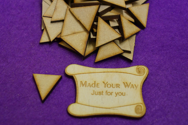 MDF Triangle 2cm - 100 x Laser cut wooden shape