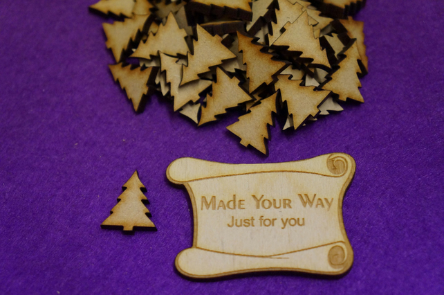 MDF Christmas Xmas Tree 2cm - 50 x Laser cut wooden shape