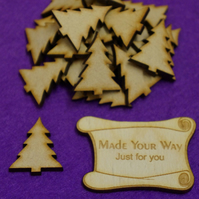 MDF Christmas Xmas Tree 3cm - 25 x Laser cut wooden shape