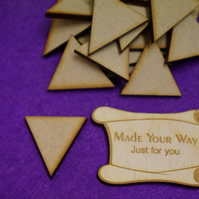 MDF Triangle 3cm - 50 x Laser cut wooden shape