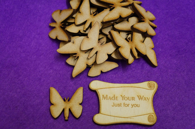 MDF Butterflies 3cm - 50 x Laser cut wooden shape