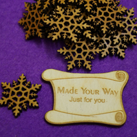 MDF Snowflake One 3cm - 20 x Laser cut wooden shape