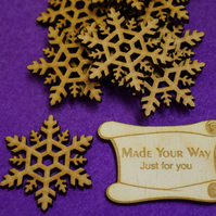 MDF Snowflake One 4cm - 10 x Laser cut wooden shape