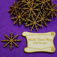MDF Snowflake Two 3cm - 20 x Laser cut wooden shape