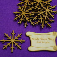 MDF Snowflake Two 4cm - 10 x Laser cut wooden shape
