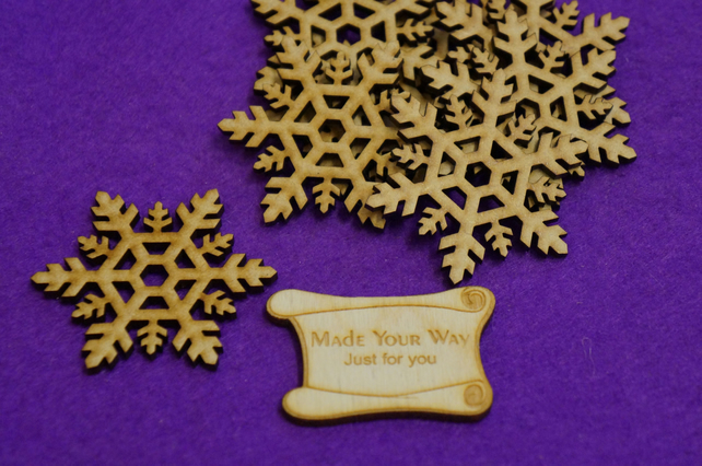 MDF Snowflake One 6cm - 8 x Laser cut wooden shape