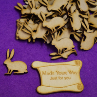 MDF Bunny Rabbit Hare 3cm - 40 x Laser cut wooden shape