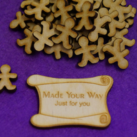 MDF Gingerbread Man 2cm - 50 x Laser cut wooden shape