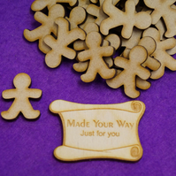 MDF Gingerbread Man 3cm - 40 x Laser cut wooden shape
