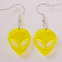 Alien head Earrings - Acrylic