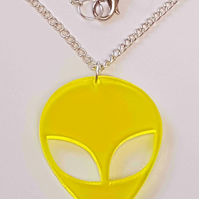 Alien head Necklace - Acrylic