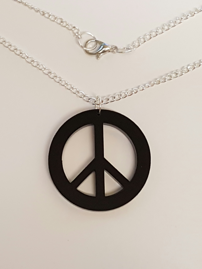 Peace Symbol Necklace - Acrylic