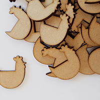 MDF Chicken Hen 3cm - 40 x Laser cut wooden shape