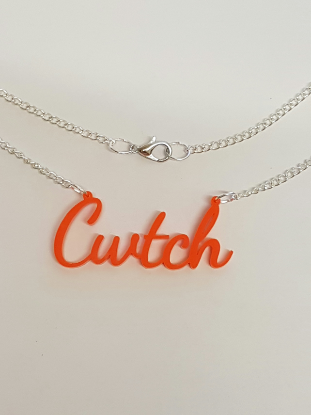 Cwtch Welsh Necklace - Acrylic