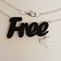 Free as a Bird Necklace - Acrylic