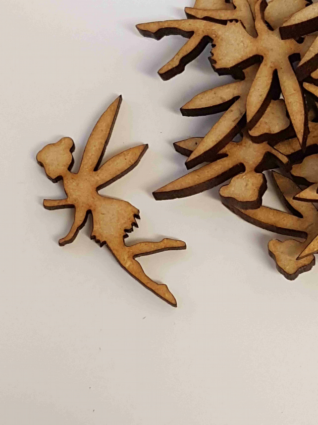 MDF Fairy D 4cm - 25 x Laser cut wooden shape